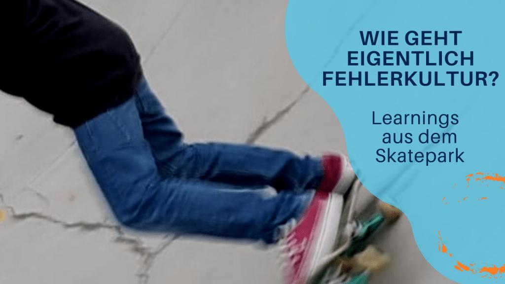 Beine auf Skateboard